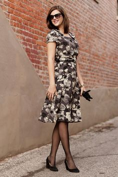 She made this from a 1946 Vintage Butterick Pattern.  Man I wish I knew how to sew! Love, love, love this dress.  Dec6-A by What I Wore, via Flickr