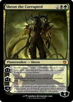 Sheon the Corrupted (Black/Green Planeswalker) - Custom Card Creation - Creativity - MTG Salvation Forums - MTG Salvation