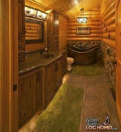 Log Cabins On Pinterest Cabin Log Cabin Bathrooms And Log Cabin