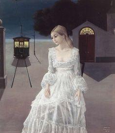 Paul DELVAUX, La robe de mariée, 1973