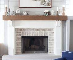 Image Result For Whitewashed Brick And Shiplap Fireplace With Tv Over Mantle Fireplace Remodel White Wash Brick Family Room Design