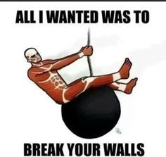 Hee hee! Attack on Titan humor :)
