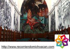 """MICHOACÁN MÁGICO, te dice. En la Biblioteca Pública de Jiquilpan José Clemente Orozco pintó uno de sus famosos murales pintados en 1940, de nombre """"alegoría de México. En el que propone una visión de la patria y de la identidad nacional. http://www.recorriendomichoacan.com"""