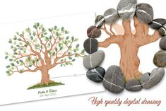 Instant Download Fingerprint Tree Newton wedding thumbprint   Etsy Wedding Fingerprint Tree, Fingerprint Art, Bridal Shower Decorations, Birthday Party Decorations, Birthday Parties, Presentation Pictures, Gift Drawing, Best Memories, Party Gifts