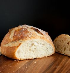Cooking Classy: 4 ingredient, no knead Crusty Rustic Bread. Best loaf of yeasted bread I've ever made. It's SO easy! @Jaclyn Bell {Cooking Classy}