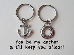 anchor and lifesaver keychain set for couples, best friends, gift for birthday or anniversary. describes me and frankys relationship perfecly Bff Gifts, Best Friend Gifts, Couple Gifts, Gifts For Friends, Gifts For Him, Best Friends, Great Gifts, Friends Forever, Anniversary Gifts For Couples