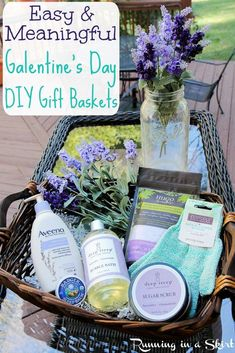 Check out this blogger's stress and relaxation basket that she just gifted her best friend for Galentine's Day!
