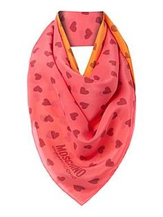 672a5194ac Moschino Cheap & Chic Scarf Happy Heart, Moschino, Scarves, Bandanas, Nice  Asses