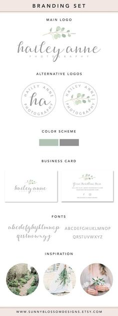 Photographer branding set! This branding set is perfect for those who want a clean, olive branch watercolor branding for their business. Photography Branding Package, Photography Branding Kit, Watercolor Leaf Logo Design, wedding planner, leaf, watercolor, business card #photographer #branding #ad Branding Kit, Branding Design, Logo Design, Branding Ideas, Logo Ideas, Business Card Fonts, Business Logo, Watercolor Branding, Leaf Logo