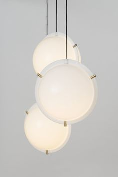 """leibal: """"Clam is a minimal pendant created by United Kingdom-based designer Daniel Schofield for Decode. The spherical light isn't a typology that is going away any time soon, so with this in mind the designer looked at how it could be improved."""