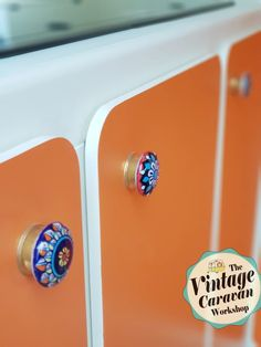 The Vintage Caravan Workshop TVCW - another finished vintage caravan project by the Lucy Jayne team. A fabulous little Fisher Holivan with a mellow orange exterior with a Morocco vibe interior. Custom commissions undertaken.  #vintagecaravanworkshop #vintagecaravan #lucyjaynecaravans #wow #wantone #fab