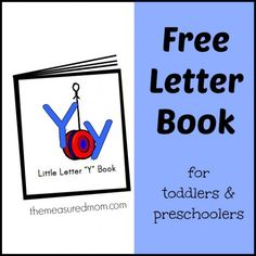 Free Letter Y mini-book of rhymes and songs for toddlers and preschoolers