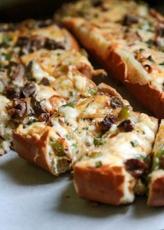 Cheesy Philly Cheesesteak Bread - www.countrycleaver.com