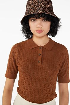 Pique knit top - Leather sofa brown size S - Knitwear - Monki ES Chunky Knitwear, Knit Fashion, Comfortable Outfits, Leather Sofa, Monki, Cool Outfits, Mini Skirts, Casual, How To Wear