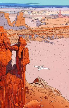 Arzach by Jean Giraud aka Moebius. Arte Sci Fi, Sci Fi Art, Jean Giraud, Art And Illustration, Inspiration Art, Art Inspo, Art Science Fiction, Moebius Art, Moebius Comics