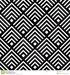 Motif géométrique abstrait de carrés, blanc noir carreaux en céramique