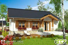 Projekt domu Ares - wariant B - Dom Dla Ciebie Small House Exteriors, Bungalow House Design, Cottage Exterior, Design Case, House Rooms, Traditional House, Home Fashion, Tiny House, Gazebo