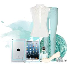 """""""Smart Casual with ice blue"""" by dsstyles on Polyvore"""