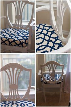 Who doesn't love a Hepplewhite chair? With its shield back and intricate design, it can be a great centerpiece in a modern home with just a few touch-ups. A fresh coat of paint, some construction reinforcement and fresh upholstery creates the perfect addition in this before and after.