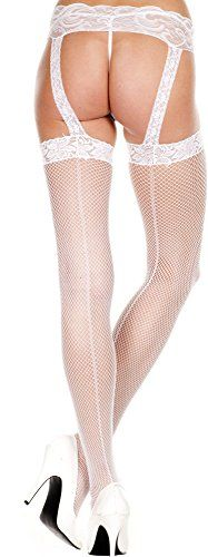 519f173295f Music Legs Lace top backseam garterbelt stockings -- To view further for  this item