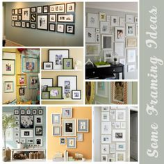 PattyKPhotography: Some Framing Ideas . Frame Wall Decor, Frames On Wall, Diy Home Decor, Room Decor, Master Bedroom Design, Picture Frames, Picture Ideas, Photo Ideas, My Living Room