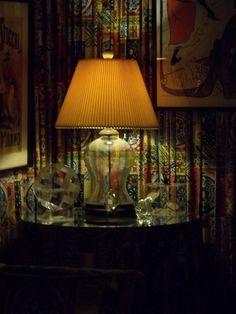 Fabric walls! Inside Graceland