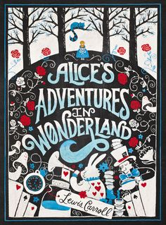 ALICE'S ADVENTURES IN WONDERLAND by Lewis Caroll.  Book sale book cover display...