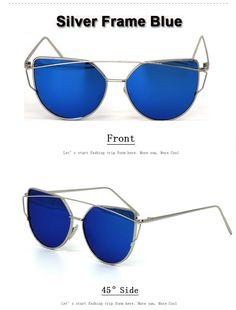 7d6b2603b21 Hot 2017 New Cat Eye Sunglasses Women Brand Designer Fashion Twin-Beams  Rose Gold Mirror Cateye Sun Glasses For Female UV400 195