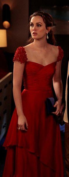 Reem Acra Resort 2012 Blair Waldorf (Leighton Meester) Gossip Girl red dress
