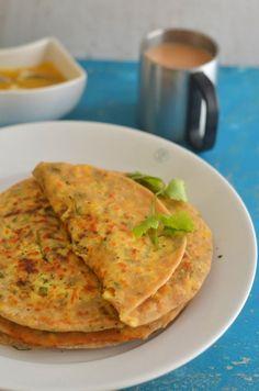 cabbage panner paratha