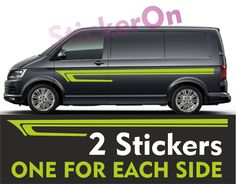 Set of 2 decals for left & right side. Once you get your stickers you can stick them to any smooth and relatively flat surface. Vw Bus, Volkswagen Transporter, T4 Camper, Vw Crafter, Day Van, Camper Conversion, Custom Vans, Car Wrap, Car Detailing