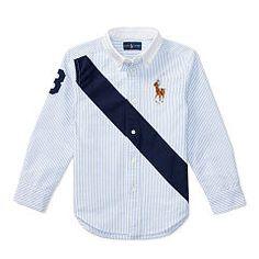 Banner Cotton Oxford Shirt - Boys 2-7 Long Sleeve - RalphLauren.com