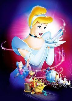 "Walt Disney Poster of Cinderella, The Fairy Godmother, Perla, Jaq and Gus from ""Cinderella"" Walt Disney Characters, Disney Posters, Art Disney, Disney Kunst, Diamond Drawing, 5d Diamond Painting, Diamond Art, Manga Anime, Picture Gifts"