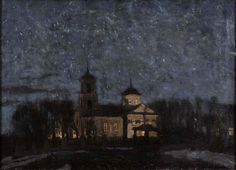 Easter Night - Stanislav Yulianovich Zhukovsky Polish painter , 1871 - 1944