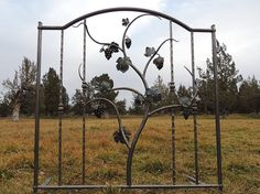 Wrought Iron Garden Gate Tuscan Decor by DeschutesIronForge Wrought Iron Wall Art, Wrought Iron Garden Gates, Iron Gates, Tuscan Design, Tuscan Style, Style Toscan, Tuscany Decor, Blue Shutters, Mediterranean Home Decor