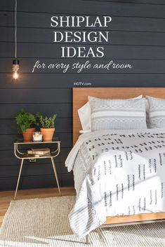 You can use shiplap in every room in your house. HGTV shares inspiring designer photos to show you how it works. Decor, Furniture, Room, Home, Home Furniture, Home Renovation, Bedroom Decor, Simple Living Room, Interior Design