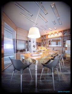 Meeting room interior design by Denis Chigidin