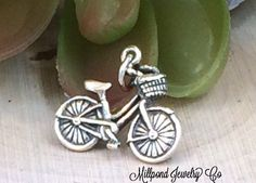 Bicycle Charm, Bike Charm, Sterling Silver Bicycle Charm, Outdoors Charm