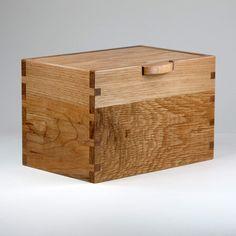 Recuerdo tarjeta caja caja de joyería Valet roble por JMCraftworks