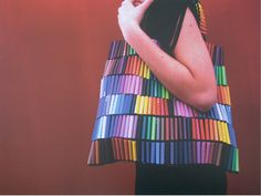 - This creative bag named Just Beg was created from colourful felt-tip markers and elastic thread. Not only imaginatively beautiful, the concept of. Felt Tip Markers, Marker Crafts, Elastic Thread, Collaborative Art, Art Lessons Elementary, Recycled Crafts, Recycled Materials, Fun Crafts, Tela