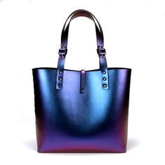 Cobalt Iridescent Tote Bag