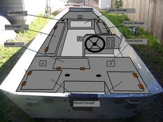 Free Plans For Boat Building Aluminum Fishing Boats, Aluminum Boat, Bass Boat Ideas, Duck Boat Blind, Tiny Boat, John Boats, Boat Blinds, Free Boat Plans, Boat Restoration
