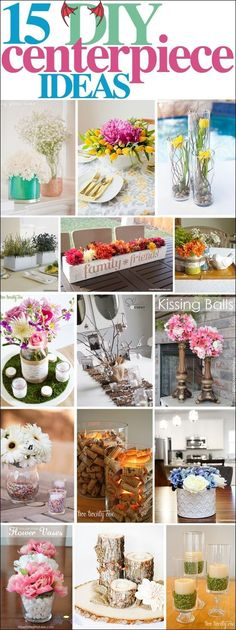 15 DIY Centerpiece Ideas - How to Nest for Less™ these 15 DIY Centerpiece Ideas are gorgeous! I am SO excited about Spring!<br> Yesterday I showed you two new centerpieces I created for less than $17 total, mostly using things I had around my home. Well today I rounded up 15 of my favorite DIY Centerpieces that will truly inspire you. ENJOY! ____________________________________________________ Tulip & Curly Willow Centerpiece from Hostess with the Mostess… Curly Willow Centerpieces, Diy Centerpieces, Quinceanera Centerpieces, Centrepieces, Diys, Craft Projects, Projects To Try, Ideias Diy, Deco Floral