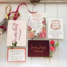 Convite do casamento por Annie Mertlich - Wildfield Paper Co-