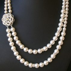 Rose Wedding Necklace Statement Bridal Necklace by luxedeluxe, $89.00