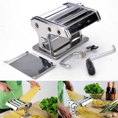 "7"" Home Pasta Maker Machine Noodle Roller"