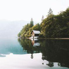 Evening paddle on Lake Bohinj Slovenia by alexstrohl