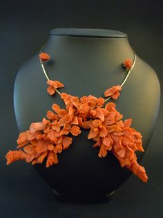 Coral necklace Coral Jewelry, Beaded Necklace, Beaded Collar, Pearl Necklace, Beaded Necklaces