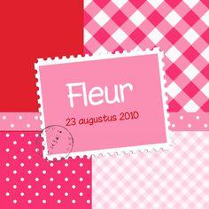 Geboortekaartjes - Geboortekaartje Fleur RS