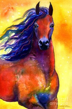 Horse Paintings and Prints | ... Horse 1 Painting Painting - Arabian Horse 1 Painting Fine Art Print